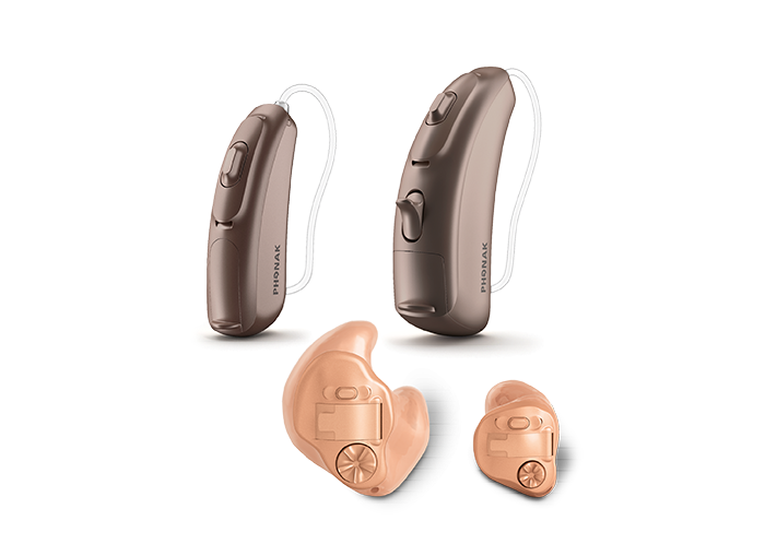 the CROS B device by Phonak. Device comprises of 2 components - a wireless microphone and a hearing aid.